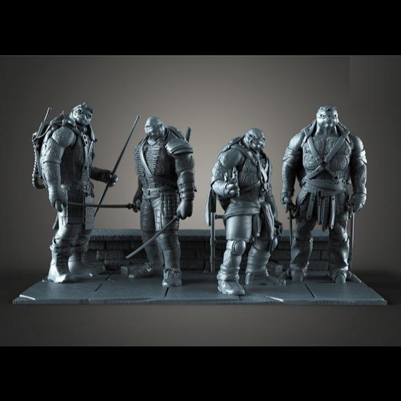 忍者神龟4人全套3D打印模型-3D打印