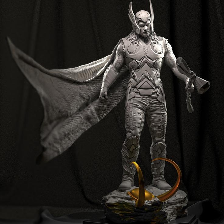 漫威雷神手办高清3D打印模型-3D打印