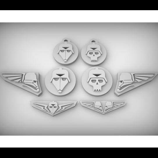 3D模型-帝国头骨钥匙圈