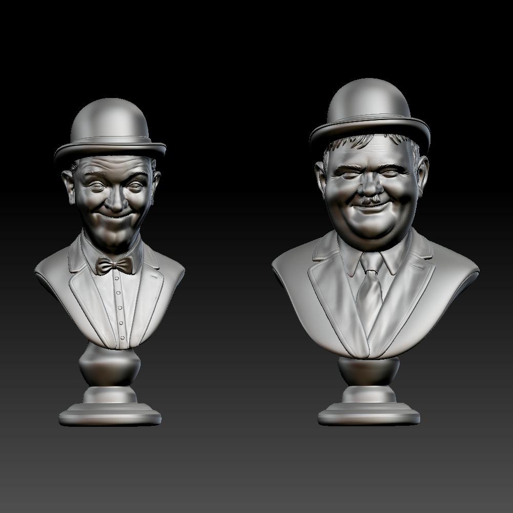 3D模型-喜剧组合劳莱与哈台 半身像