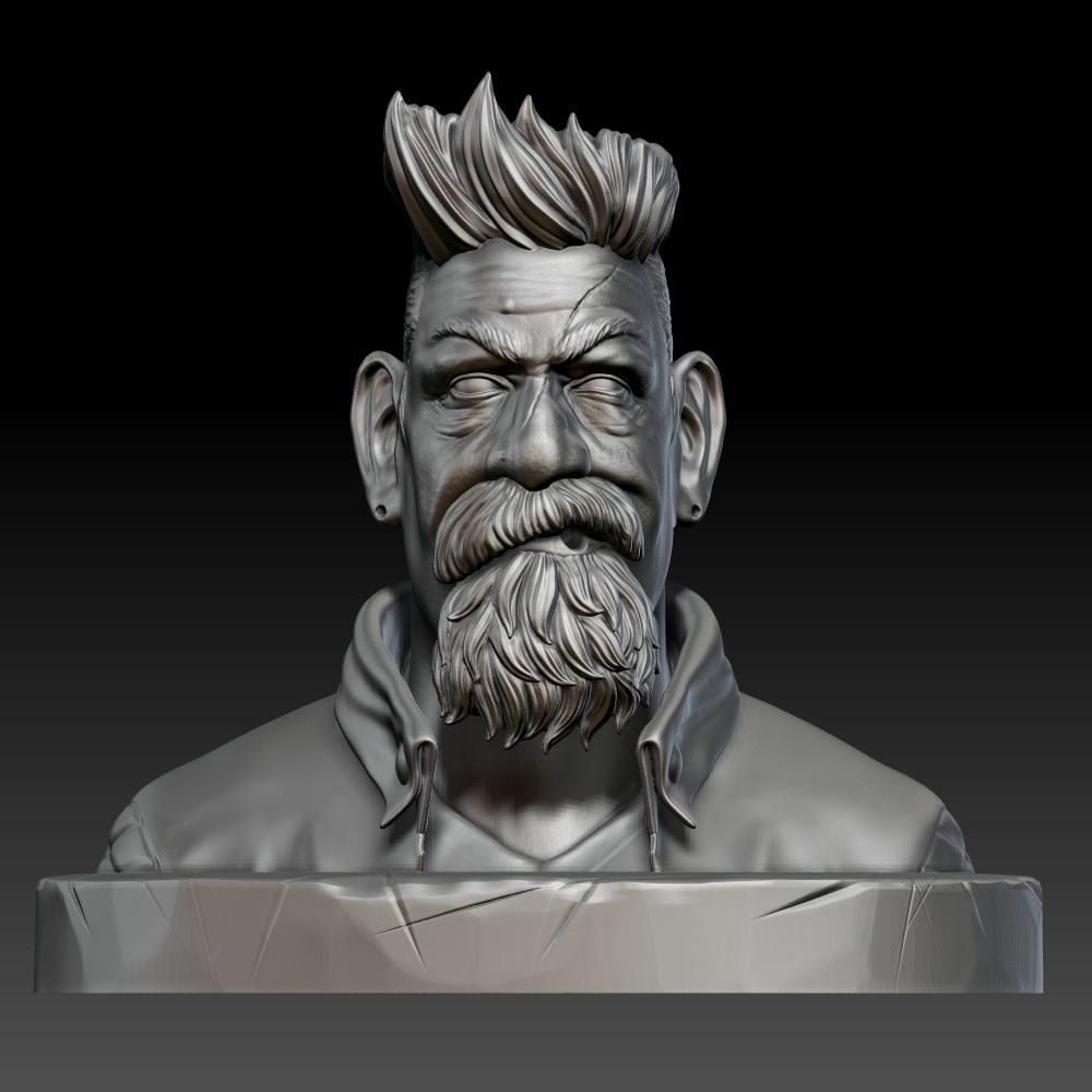 3D模型-僵尸猎人半身像