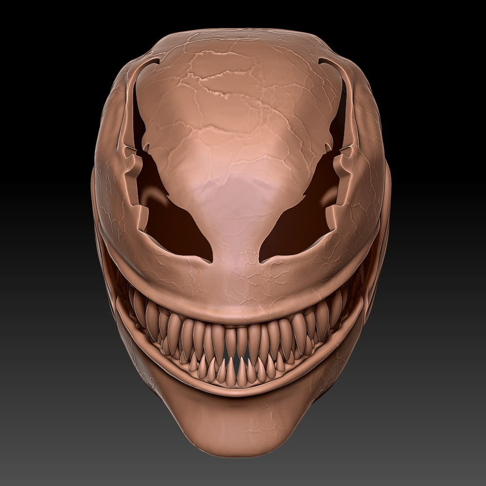 毒液 全面具头盔
