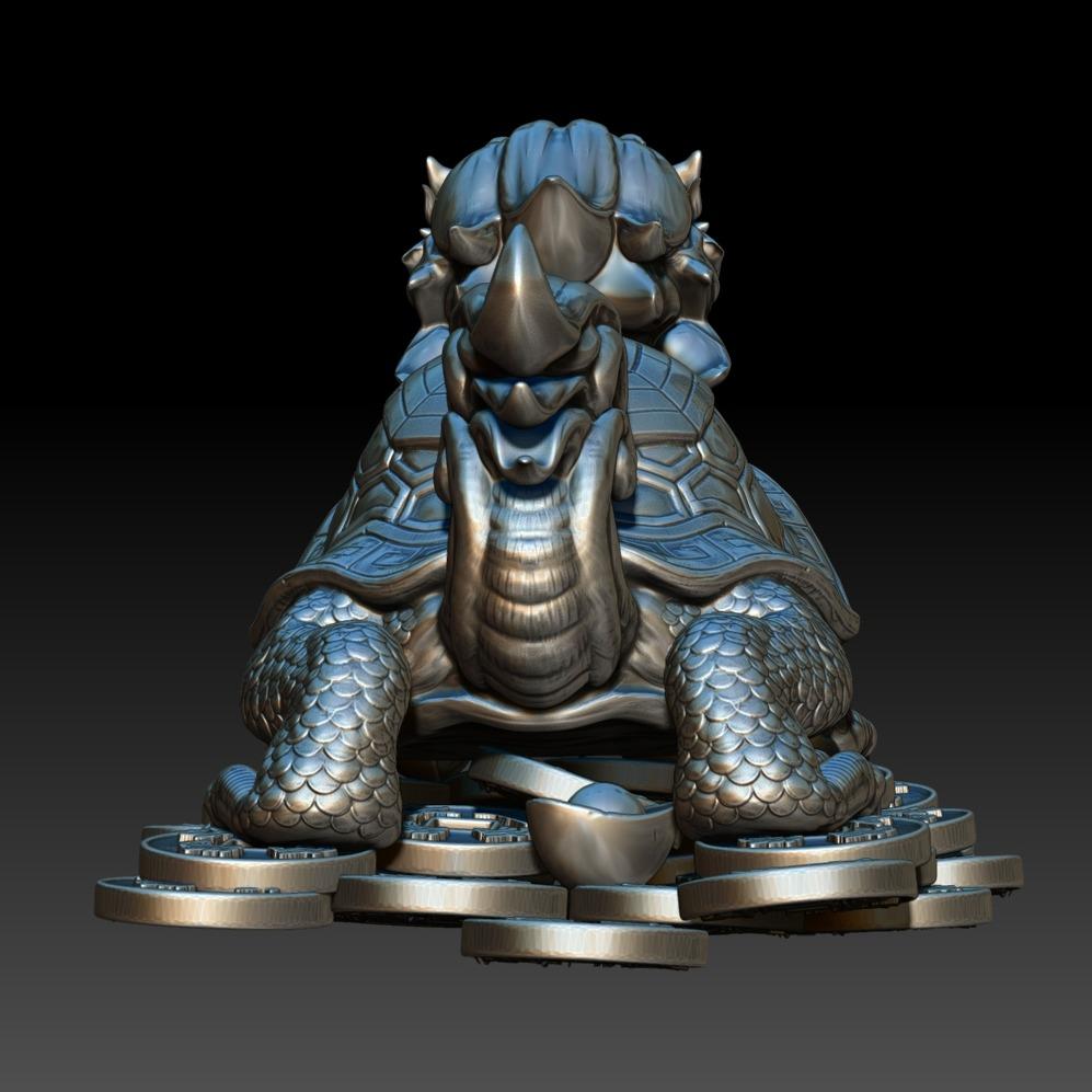 3D模型-龙头龟(龙龟)