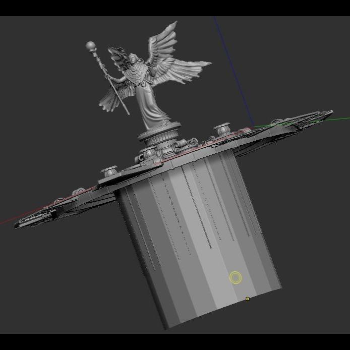 3D模型-女神雕像