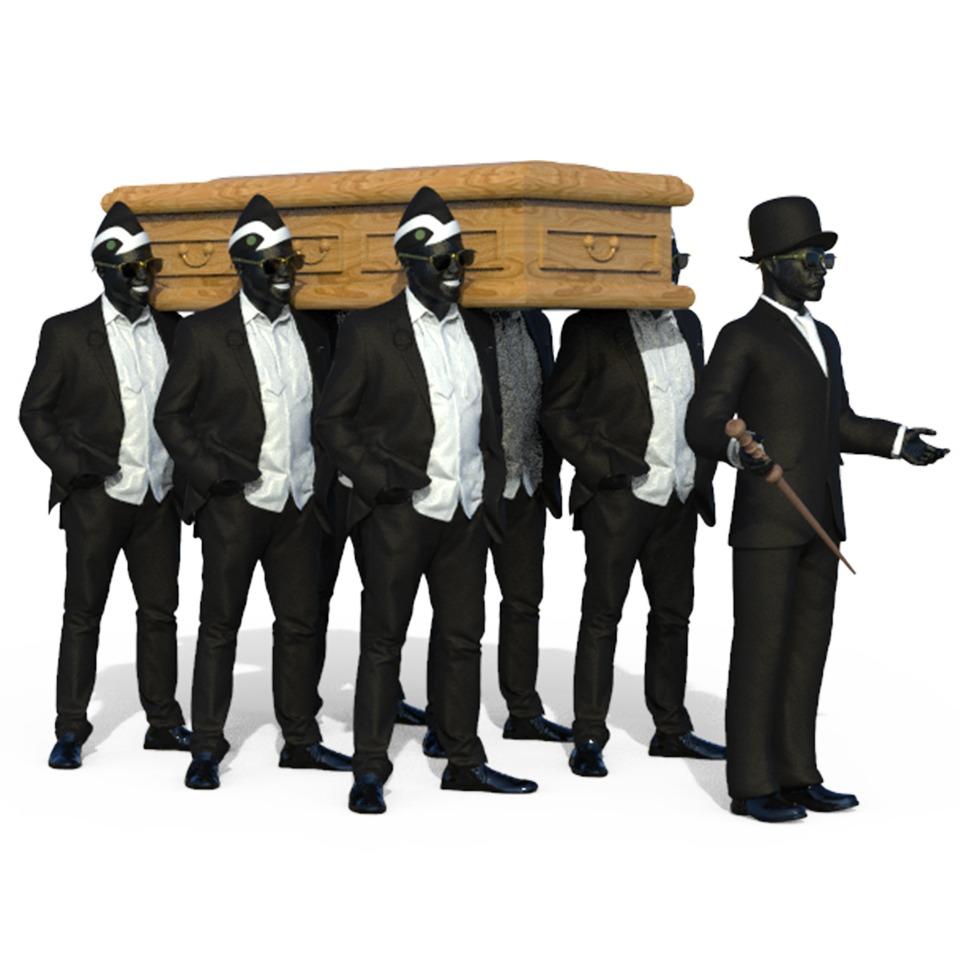 黑人抬棺3D打印模型2