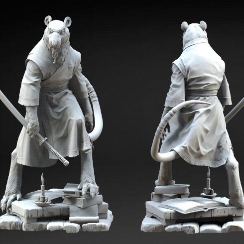 忍者神龟老鼠师傅3D打印模型-3D打印