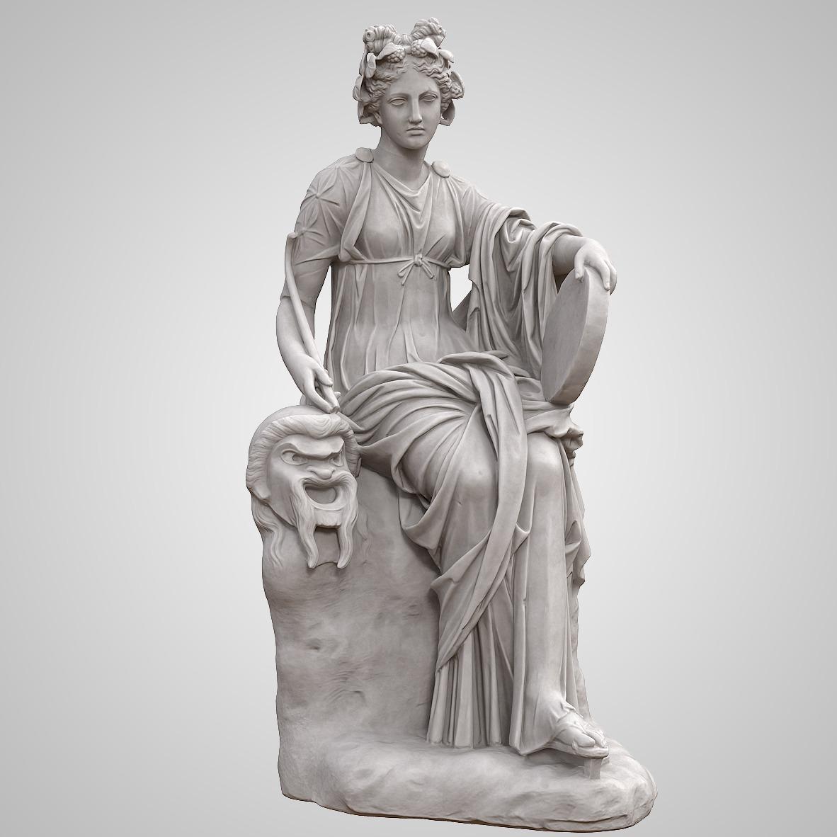 博物馆泰利亚坐像(Thalia Seated)-3D打印
