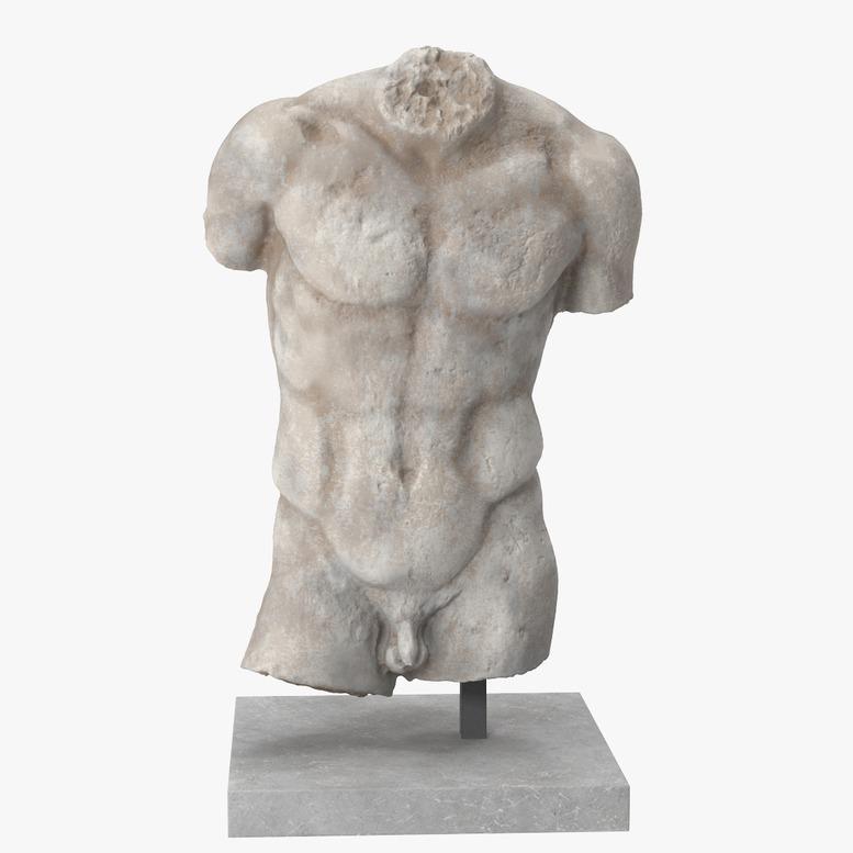 3D模型-康斯坦丁的人体躯干模型(Man Torso)