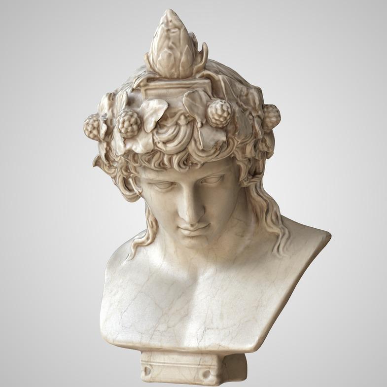 狄俄尼索斯半身像( Dionysus Bust)-3D打印