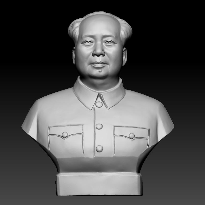 中年毛泽东半身像