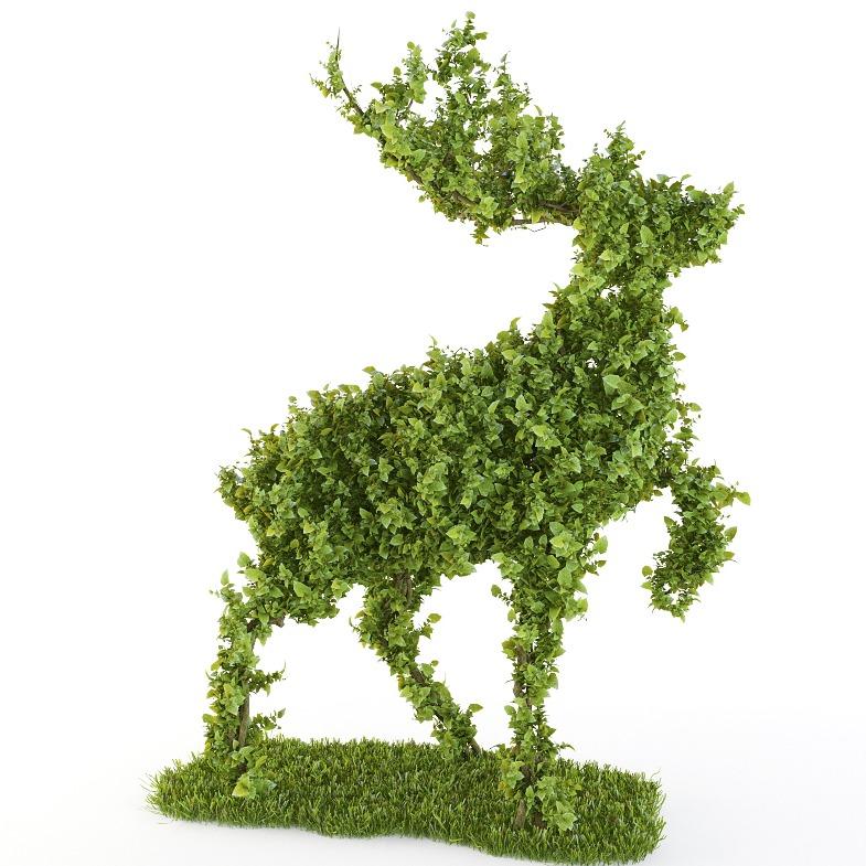 绿叶 鹿 3D模型-3D打印