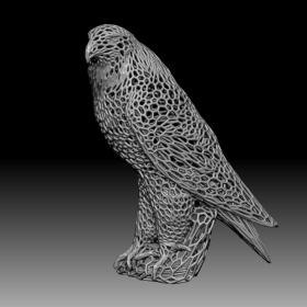 3D模型-镂空鹰
