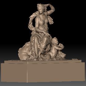 卢浮宫女性石膏雕塑