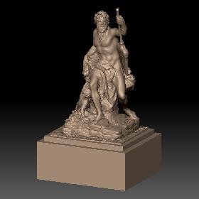 卢浮宫男性持剑石膏雕塑