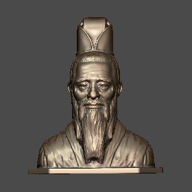 863孔子头像雕塑摆件-3D打印